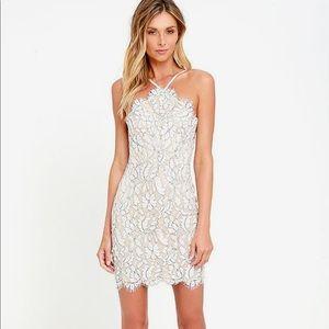 Lulus NWT white lace dress